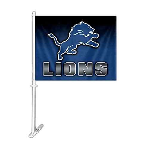 NFL Detroit Lions Ombre Design Car Flag, 11