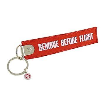 Llavero Remove Before Flight, con ojete cerrado (Rojo ...