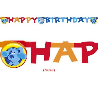 Birthday Blues Clues Card - Blue's Clues Banner