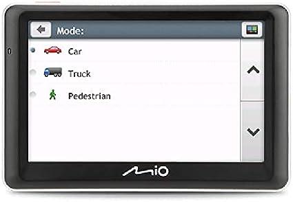 Mio Spirit 7700 Truck Lm Sat Navigation System Mit Lifetime Map Updates Schwarz Auto