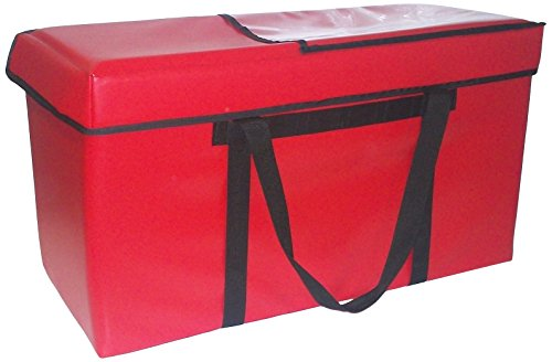 TCB Insulated Bags SCATER-2-Red Insulated Food Service Bag without Pockets, Holds 15 Meals, 13'' x 32'' x 17.5'', Red by TCB Insulated Bags