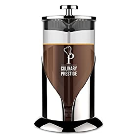 French Press Coffee & Tea Maker | 8 Cup (34 Oz) - Guaranteed Perfect Cup Every Time - Stainless Steel & Heat-Resistant Borosilicate Glass - Makes the Perfect Gift by Culinary Prestige