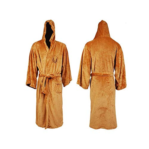Star Wars Jedi Hooded Bath Unisex Robe (Brown, XL) -