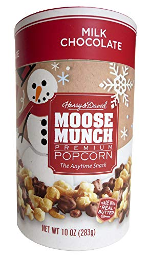 HARRY & DAVID Milk Chocolate Holiday Moose Munch 10oz Canister