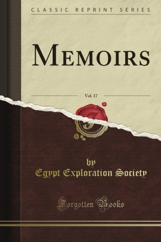 Memoirs, Vol. 17 (Classic Reprint)