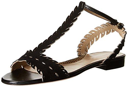 Borbonese Damen Sandale, Schwarz, 38 Eu