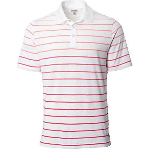 Ashworth Mens Yarn Dye Polo White/Pink M Pink Yarn Dye