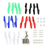 Drone Repair Parts - Coolplay Full Set Spare Parts with Main Blade Propeller Motors Main Gear Set with Shaft Mounting Screws Replacement for Syma X11 X11C X13 RC Quadcopter