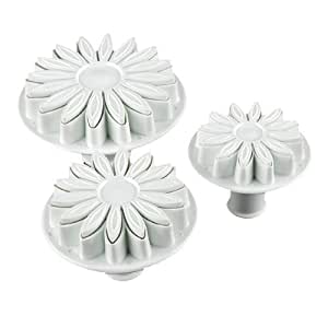 Allforhome(TM) 3pcs of Sunflower plunger Cutter cake decorating fondant embossing tool