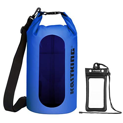 KastKing Floating Waterproof Dry Bag 10L/20L/30L Roll Top Sack Keeps Gear Dry for Kayaking, Rafting, Boating, Swimming, Camping, Hiking with IPX8 Floating Waterproof Phone ()
