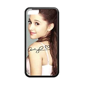Generic Custom Phone case for Iphone 5C Ariana Grande And Signature Pattern Kimberly Kurzendoerfer