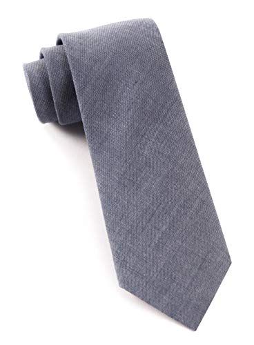 - The Tie Bar 100% Cotton Warm Blue Classic Chambray 3 Inch Tie