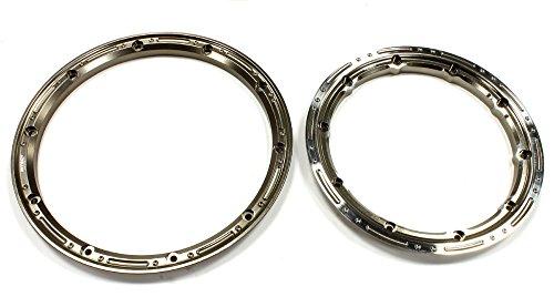 Integy RC Model Hop-ups C25094GUN Billet Machined Beadlock Ring Set (1) for Losi (Revo Ring)