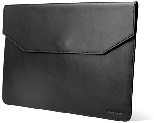 Cowhide Leather Skin Case (Kasper Maison Italian Leather Laptop Sleeve for 12 Inch Apple Macbook - Designed Envelope Case for Computer, Notebook, Ultrabook and Tablet of similar size - Signature Gift Included)