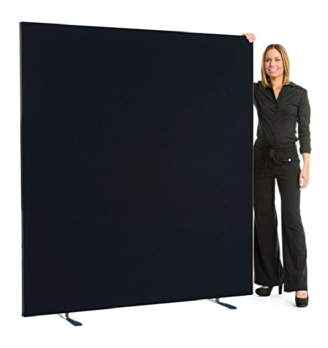 """Speedy"" Linkable Office Screen/Room Partition 1800mm High x 1400 mm wide Black XL Displays Ltd"