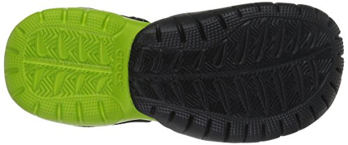 Crocs Mens Swiftwater Maglia Di Sandalo Nero / Volt Verde