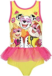 PAW PATROL Girls Skye Marshall and Rubble Swimsuit