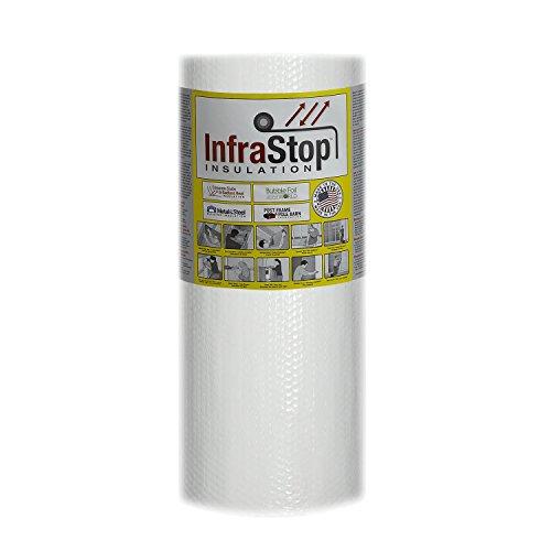 "InfraStop 24"" X 25' Foil/White (One Side) Double Bubble Reflective Foil Insulation"