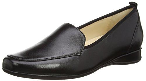 HassiaPetra, Weite G - Zapatos llanos para mujer Negro (0100 Schwarz)