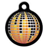 Disco Ball - Custom Pet ID Tag for Cats and Dogs - Dog Tag Art - Large Size