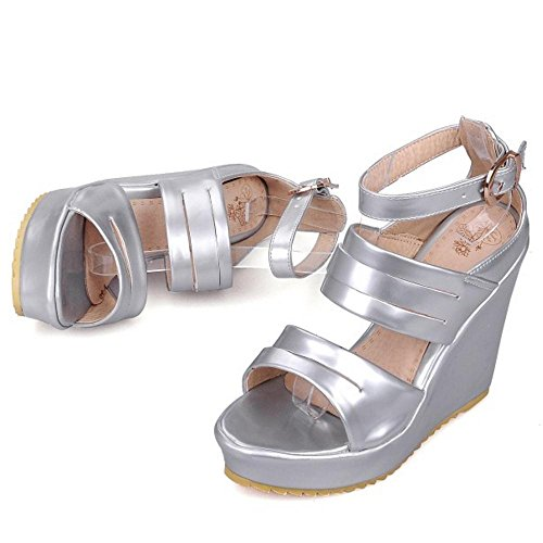 Femmes RAZAMAZA Plate Chaussures Silver Forme Sandales Compensées gFFq8O