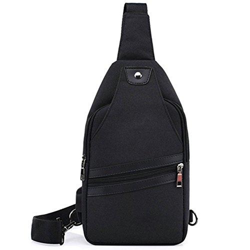 Jund - Black Shoulder Bag For Blue Man