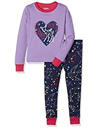 Hatley Girls' Organic Cotton Long Sleeve Applique Pajama Sets