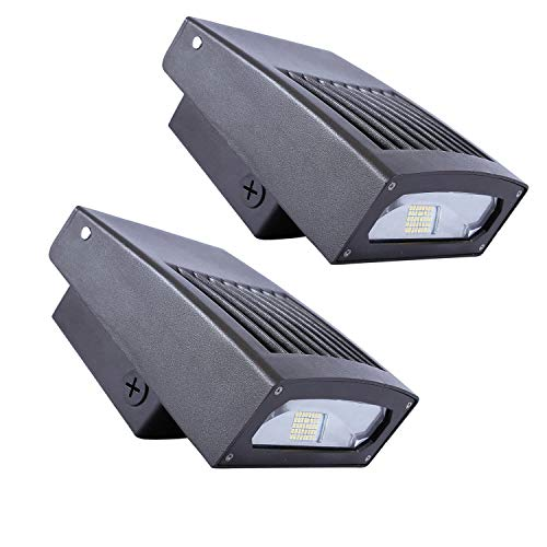 30W LED Wall Pack Light, 0-90° Adjustable Lamp Body, 3300LM, 5000K Daylight, 200 Watt HPS/HID Replacement, Outdoor LED Security Lighting, Wide Lighting Range, 10 Years Warranty (2-Pack)