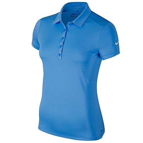 Ladies Golf Polo - Nike Victory Solid Golf Polo 2016 Ladies University Blue Small