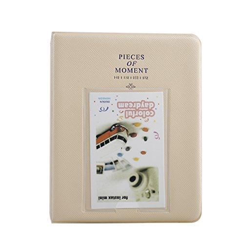 Cream Mini Photo Album - Sprite Science Mini Photo Album for Fujifilm Instax 64 Pockets Cream