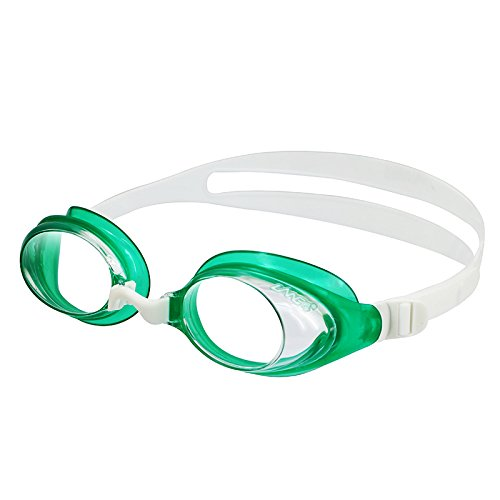 LANE4 Active & Recreation Swim Goggle - Anti-fog, UV Protection, Easy adjustment, No leaking Comfortable Lightweight Fashion for Junior Men Women 72155 …(Clear / Deep Green)
