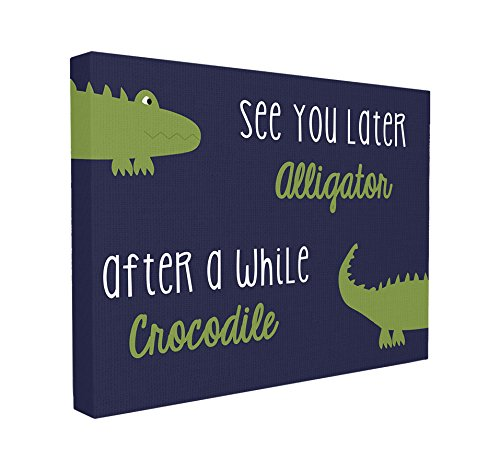(The Kids Room by Stupell See You Later Alligator, After a While Crocodile Canvas Art, 16