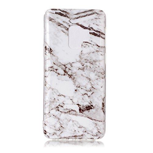 et matériel étui Anti marble portable léger le rigide téléphone de marble housse étui fait inShang Mate9 TPU dans ultra mince coque pattern Galaxy S9 Slip Samsung White coque pour InxwqH78