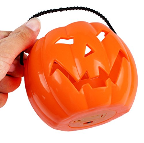 Mosunx Halloween Decorative Supplies Bar Props Color Glowing Pumpkin Ghost Light (Light Up Ghost String Prop)