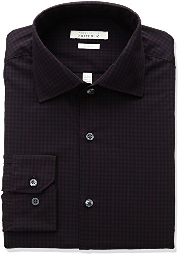 Perry Ellis Wrinkle Gingham Check Adjustable