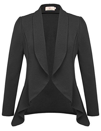 GRACE KARIN Women's Long Sleeve Open Front Draped Career Blazer CLAF0016