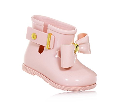 Mini Sugar Rain Bow Boot (US7 (UK6 EUR 22/23), Blush) by Mini Melissa