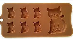 Cat Shaped Tray - Silicone Mold, Baking, Jello Shots
