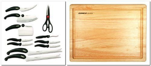 Miracle Blade Set (Miracle Blade III 91m3rbxst2 Perfection Series 11-piece Cutlery Set + Miracle Blade III Wood Cutting Board)