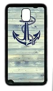 Anchor on wood customized samsung galaxy note 3 N9000 TPU Black Case