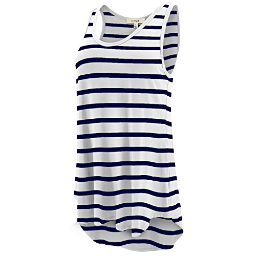 LUVAGE Women's High Low Tank Top Tunic Shirts Loose Fit
