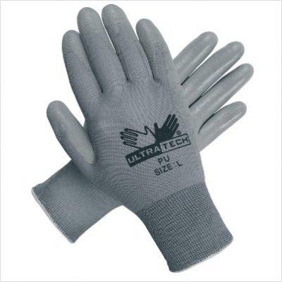 Memphis Glove 127-9696XL Ultra Tech Gray Pu Palmnylon 13 Gauge by Memphis Gloves