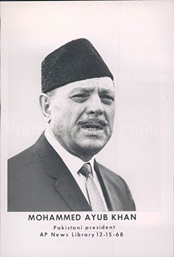 1950 Photo Pakistani President Mohammed Ayub Khan Politics Business - Pictures Men Pakistani