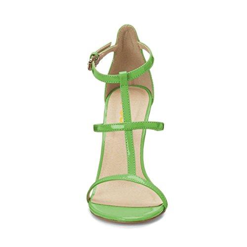 Fsj Donna Moda Sera Ballare Sandali Strappy Open Toe Tacco Alto Scarpe A Spillo Taglia 4-15 Us Verde