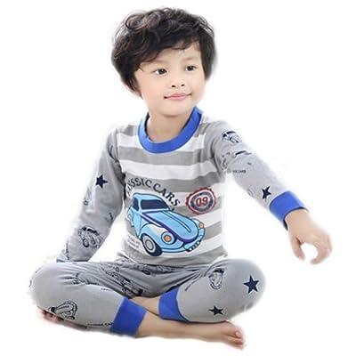Little Wardrob Unisex-Baby Car Pyjamas Set
