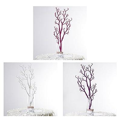 "Efavormart 30"" Glittered Manzanita Centerpiece Tree for Wedding Event Tabletop Decorations"