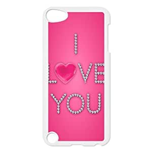 iPod 5 Case Image Of Love Pink YGRDZ35137 3D Plastic Cell Phone Cases Cover