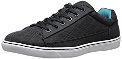 CK Jeans Men's Zamir Rubber/City Grid Fashion Sneaker, Dark Grey, 9.5 M US