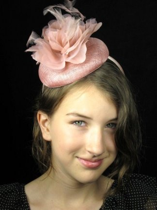 Pretty Cool - Dusky Nude Pink Pill Box Hat Fascinator with Flower    Feathers  Amazon.co.uk  Clothing 523e16a2ce3