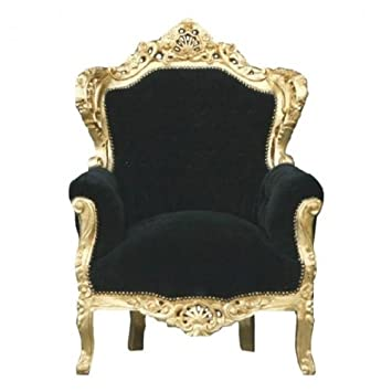 Casa Padrino Barock Sessel King Schwarz Gold Amazon De Kuche